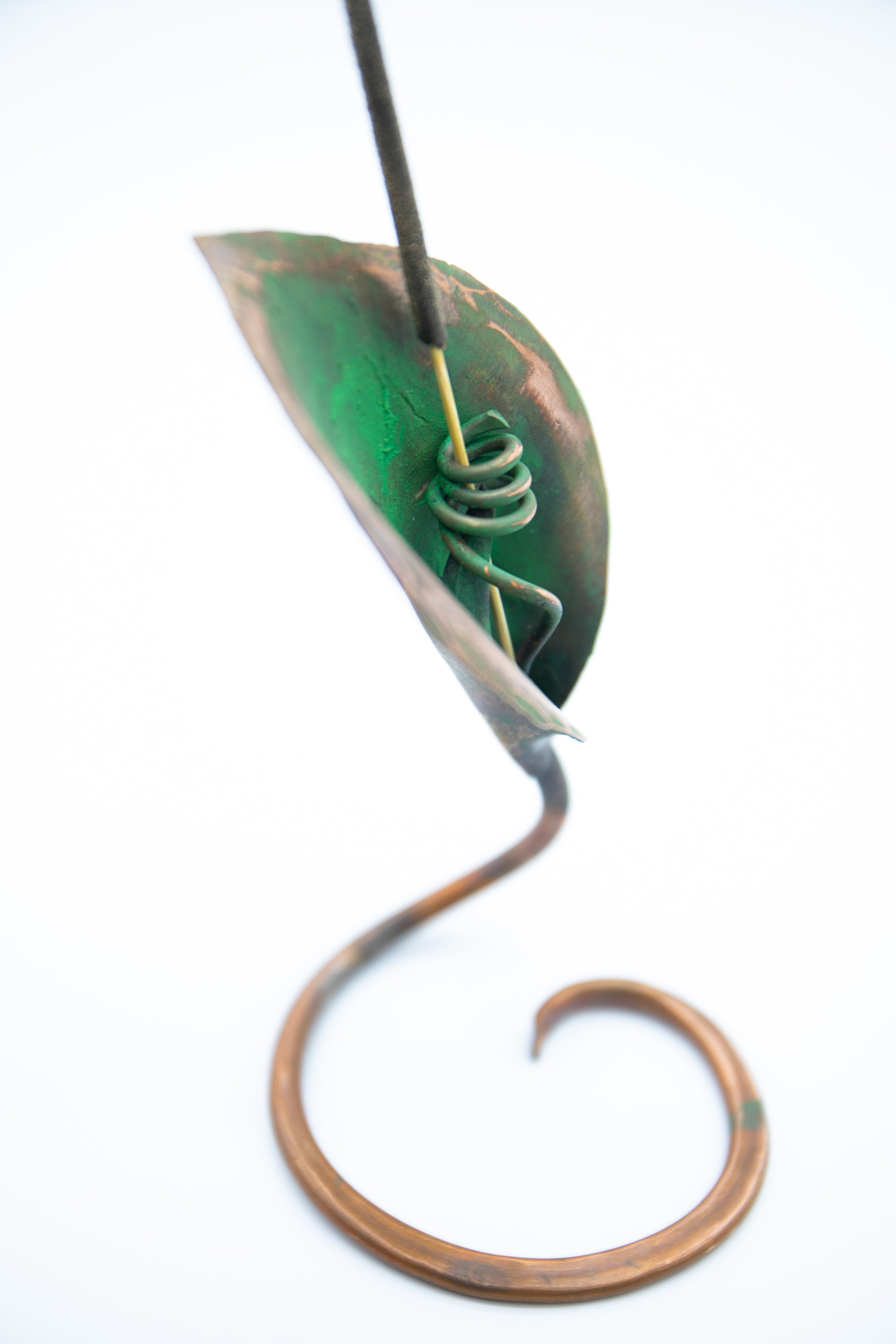 Incense Holder - Handmade Recycled Copper Lily Leaf