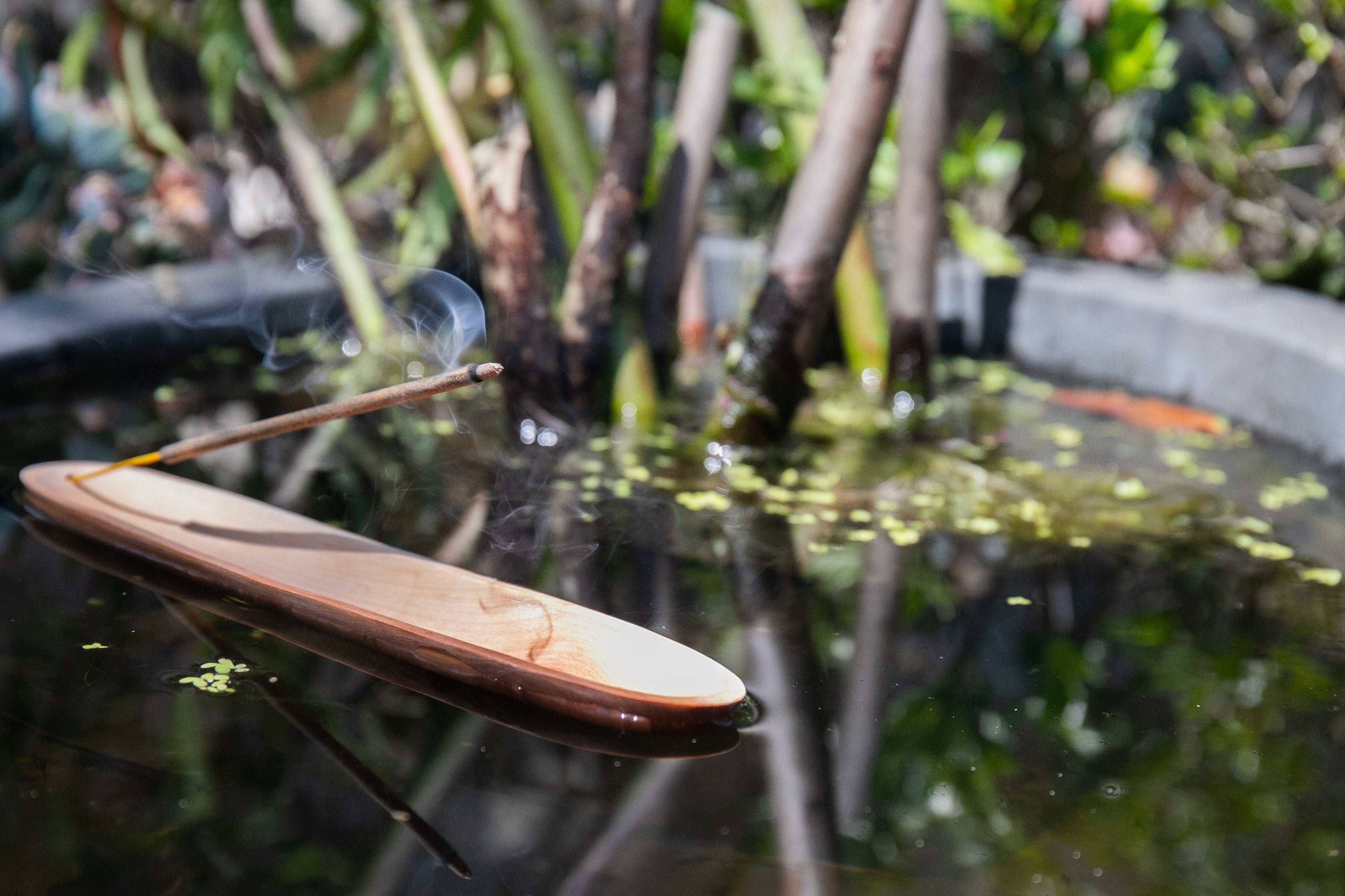Incense Holder - Sustainable Blonde Wooden Boat 25cm or 35cm