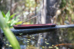 Load image into Gallery viewer, Incense Holder - Sustainable Dark Wooden Boat 25cm