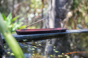 Incense Holder - Sustainable Dark Wooden Boat 25cm