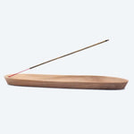 Load image into Gallery viewer, Incense Holder - Sustainable Blonde Wooden Boat 25cm or 35cm