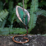 Load image into Gallery viewer, Incense Holder - Handmade Recycled Copper Lily Leaf