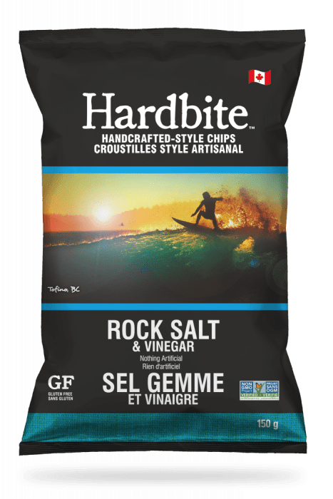 Hardbite Rock Salt & Vinegar Handcrafted-style chips - 150g