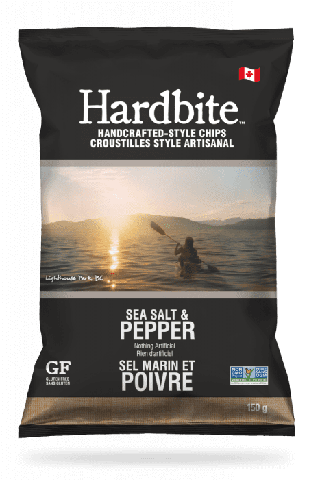 Hardbite Sea Salt & Pepper Handcrafted-style chips - 150g