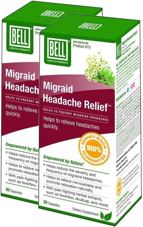 BELL Migraid Headache Relief (30 caps) 2-Pack