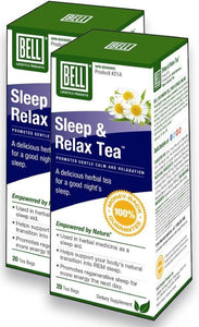 BELL Sleep & Relax Tea (20 Bags) 2-Pack