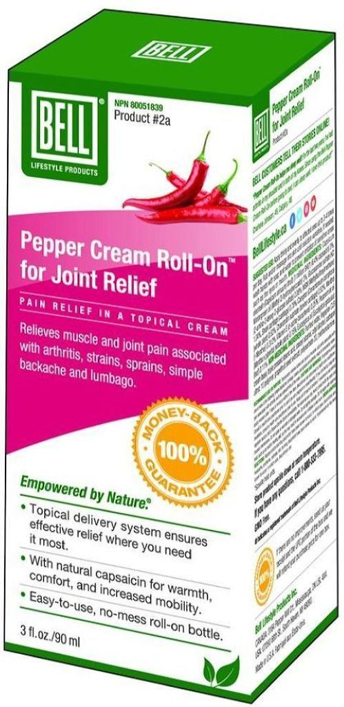 BELL Joint Relief (Pepper Cream Roll-On - 90 ml)