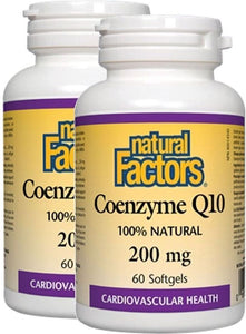 NATURAL FACTORS CO Q10  (200mg - 60 sgels) 2-Pack