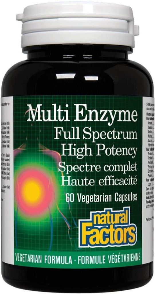 NATURAL FACTORS Multi Enzymes (60 V-Caps)