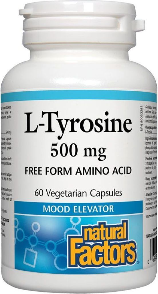NATURAL FACTORS  L-Tyrosine (500 Mg - 60 veg caps)