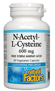 NATURAL FACTORS N-Acetyl-L-Cysteine - NAC (600mg - 60 Vcaps)
