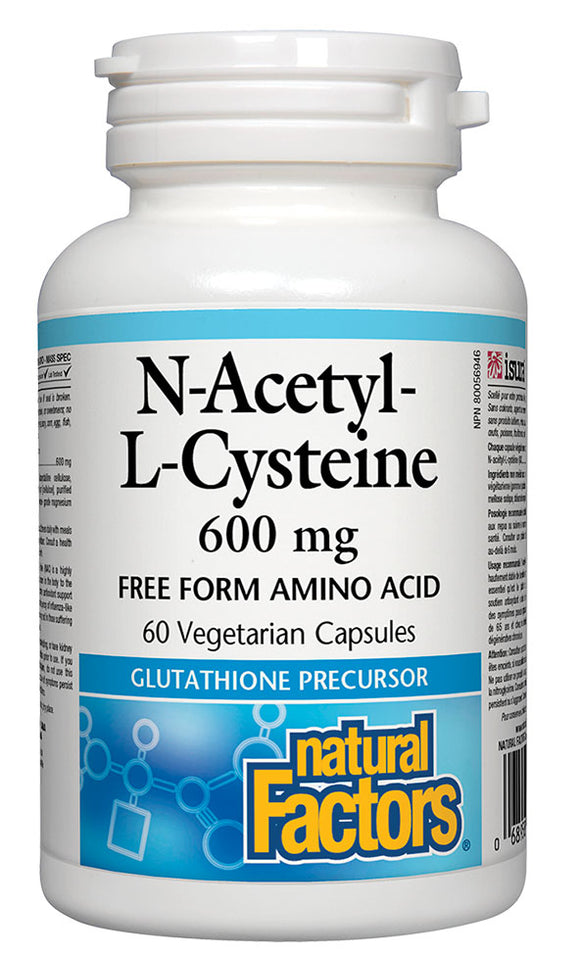 NATURAL FACTORS N-Acetyl-L-Cysteine - NAC (600mg - 60 veg caps)