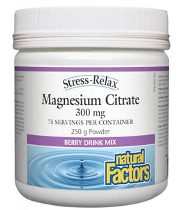 NATURAL FACTORS Magnesium Citrate (Berry - 250 gr)