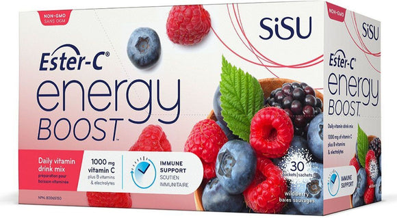 SISU Ester-C® Energy Boost (WildBerry - 30 Pckt)