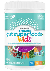 GENUINE HEALTH Organic Gut Superfoods for Kids (Grape - 88 gr)