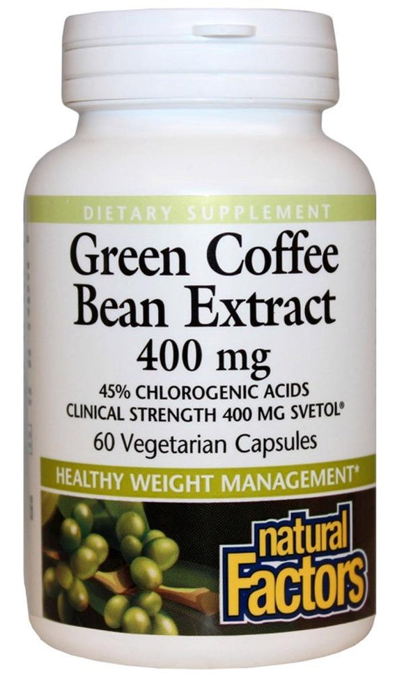NATURAL FACTORS Green Coffee Bean Extract (60 Caps)
