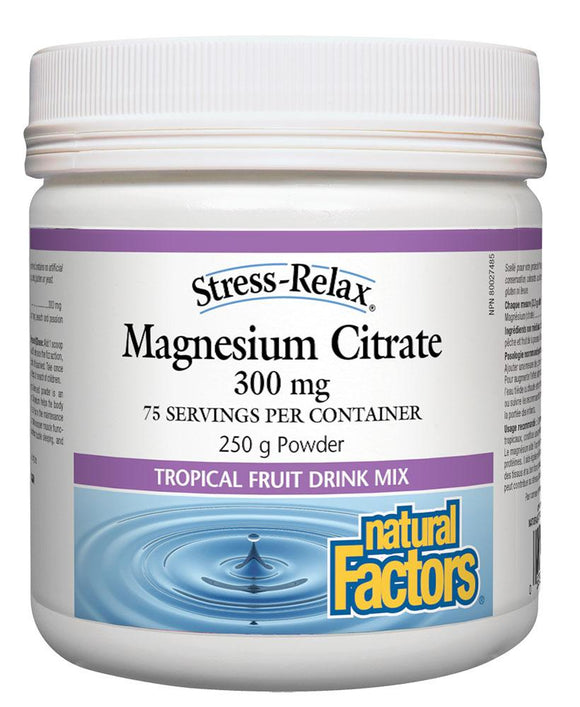 NATURAL FACTORS Magnesium Citrate (Tropical Fruit - 250 gr)