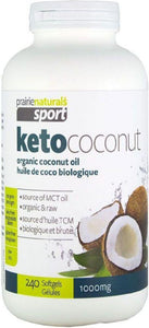 PRAIRIE NATURALS KetoCoconut Oil (1000 Mg - 240 Softgels)