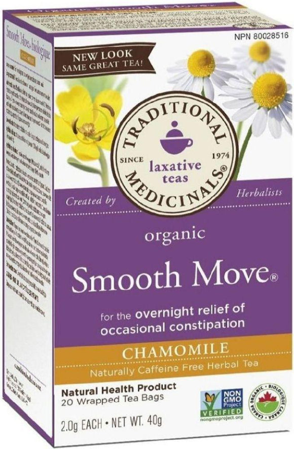 TRADITIONAL MEDICINALS Smooth Move Chamomile (20 Tea Bags)
