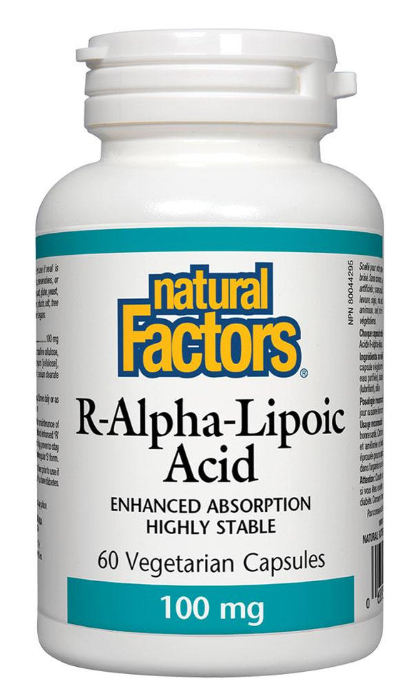 NATURAL FACTORS R-Alpha-Lipoic Acid (100 mg - 60 veg caps)