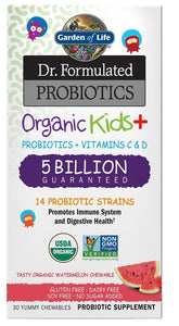 DR FORMULATED Organic Kids Probiotic 5 billion ( Watermelom 30 Chews )