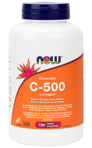 NOW Vitamin C 500  (100 chewable tabs)
