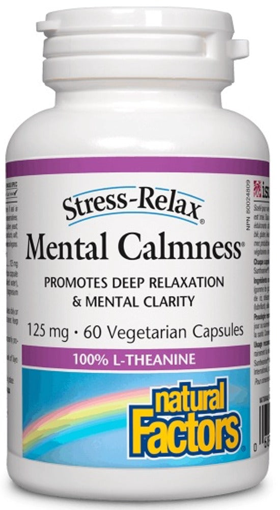 NATURAL FACTORS Mental Calmness (125 mg - 60 caps)