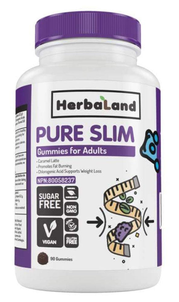 HERBALAND Pure Slim for Adults (Caramel Latte - 90 gummies)