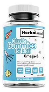 HERBALAND Kids Classic Omega 3 ( Orange - 60 gummies)