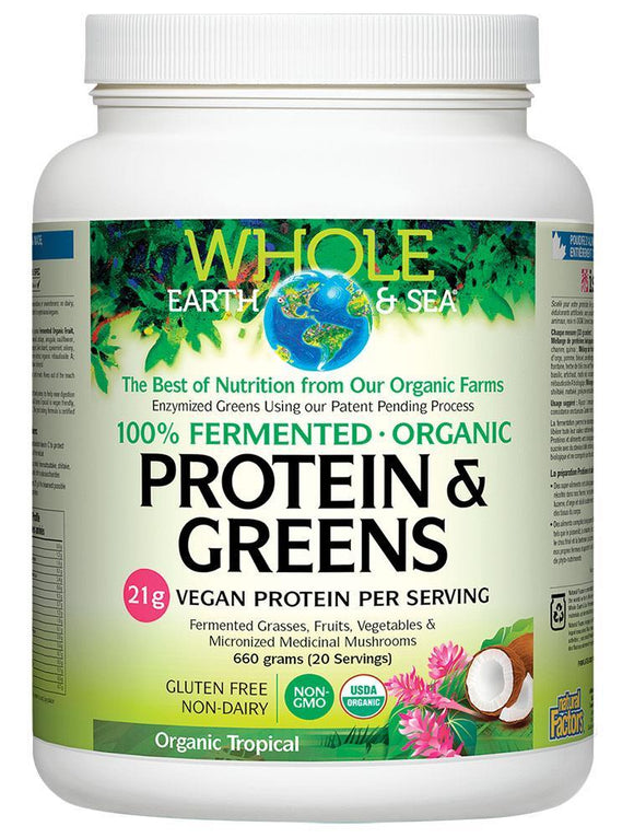 WHOLE EARTH & SEA Organic Protein & Greens (Tropical - 660 Gr)