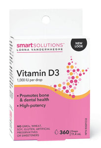 SMART SOLUTIONS Vitamin D3 ( 360 Drops )