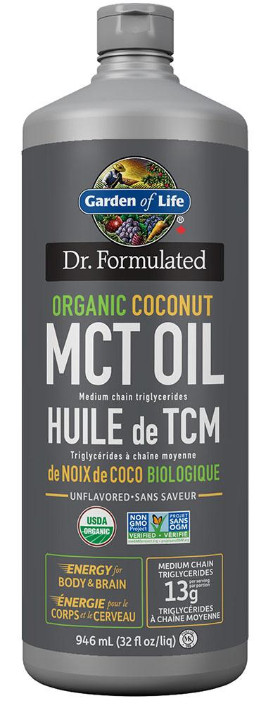 DR FORMULATED Organic Coconut MCT Oil (946 ml)