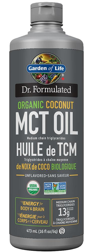DR FORMULATED Organic Coconut MCT Oil (473 ml)