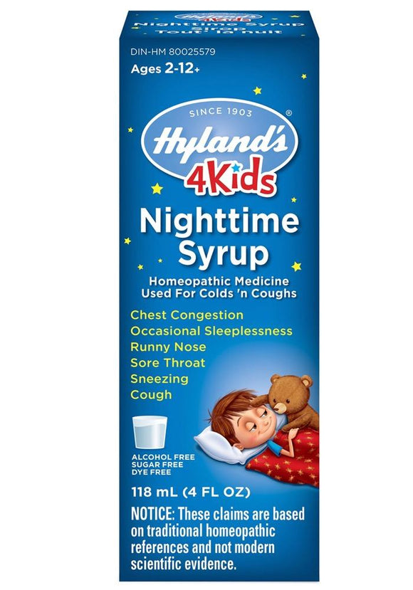 HYLANDS Nighttime Cold'n Cough 4 Kids (118 ml)