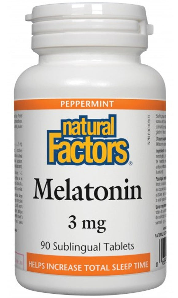 NATURAL FACTORS Melatonin (3 mg - 90 sub tabs)