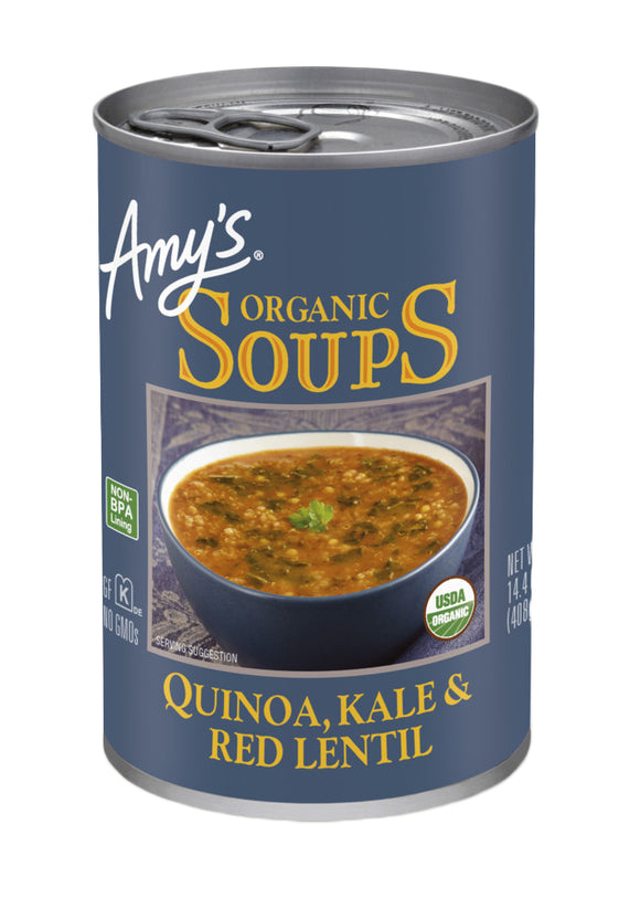 Amy's Organic Quinoa, Kale & Red Lentil Soup 398ml