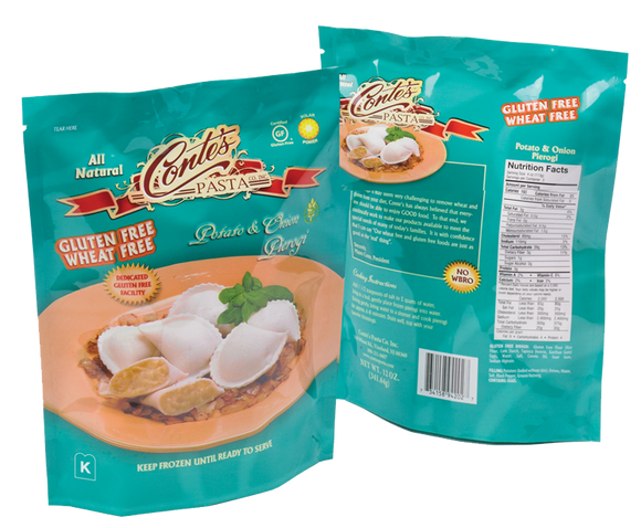Conte's Gluten-Free Potato & Onion Pierogi 340g