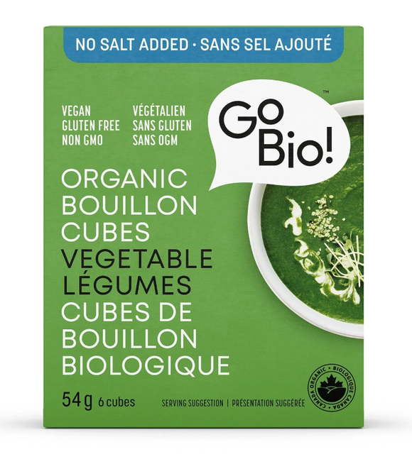 Go Bio! Organic Bouillon Cubes – No Salt Added Vegetable