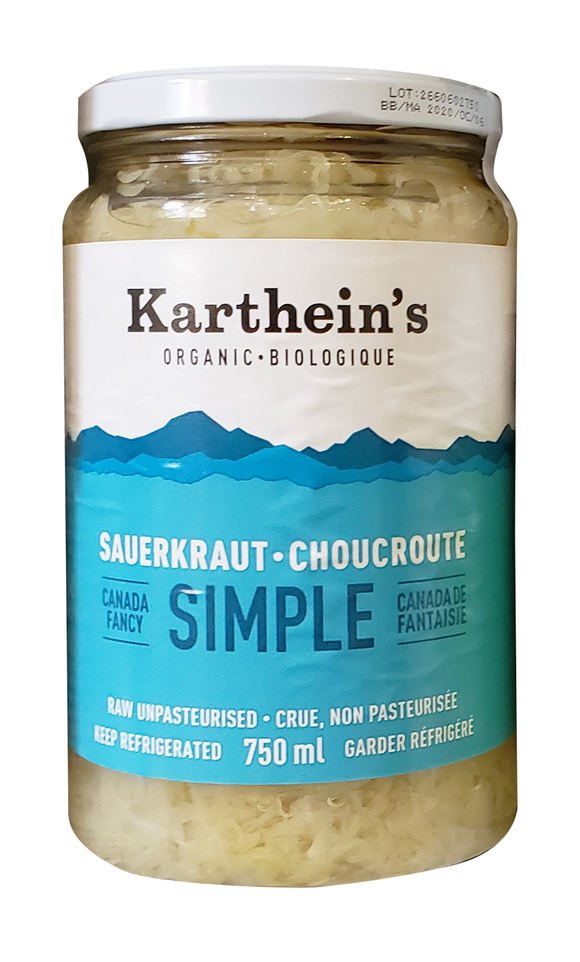 Karthein's Organic Simple Sauerkraut 750ml