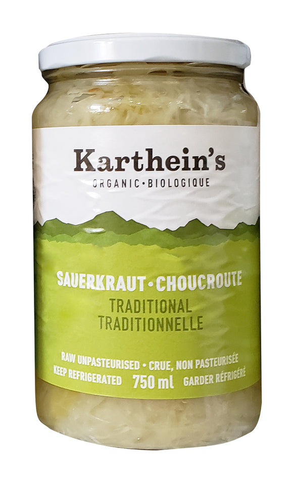 Karthein's Organic Traditional Sauerkraut 750ml