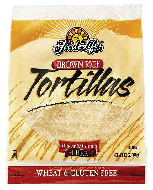 Food for Life Brown Rice Tortillas 340g (6 count)