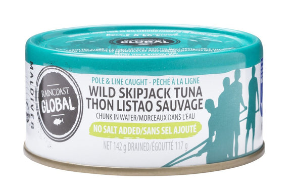 Raincoast Trading - Skipjack Tuna No Salt, 142g