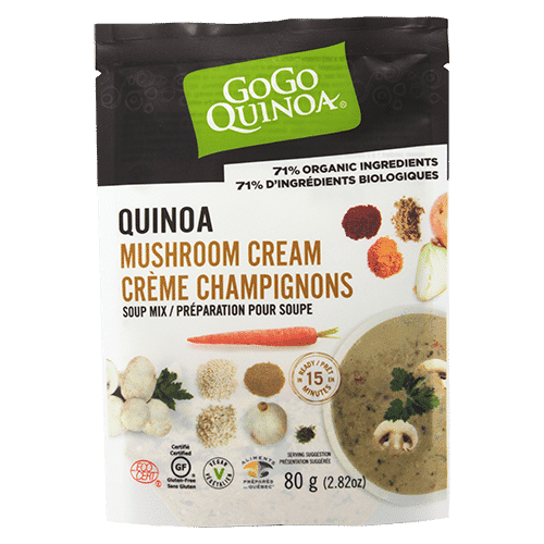 GoGo Quinoa Mushroom and Quinoa Cream