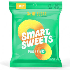 Smart Sweets Plant-Based Low Sugar Peach Rings - 50g