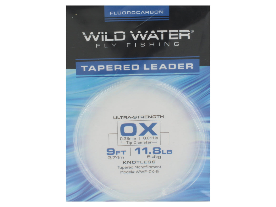 Fluorocarbon Tapered Leader 0X | Wild Water Fly Fishing