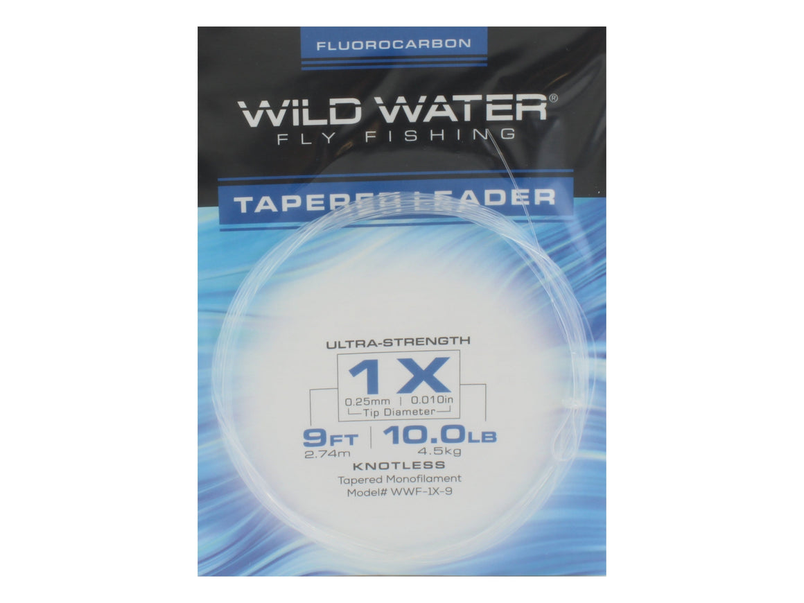 Fluorocarbon Tapered Leader 1X | Wild Water Fly Fishing