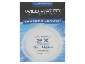 Fluorocarbon Tapered Leader 2X | Wild Water Fly Fishing