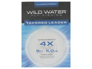 Fluorocarbon Tapered Leader 4X | Wild Water Fly Fishing