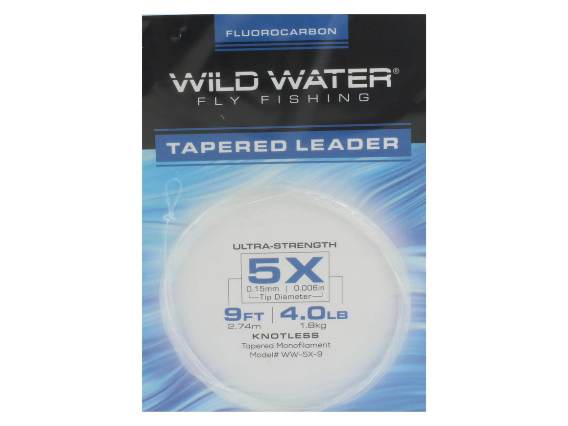 Fluorocarbon Tapered Leader 5X | Wild Water Fly Fishing