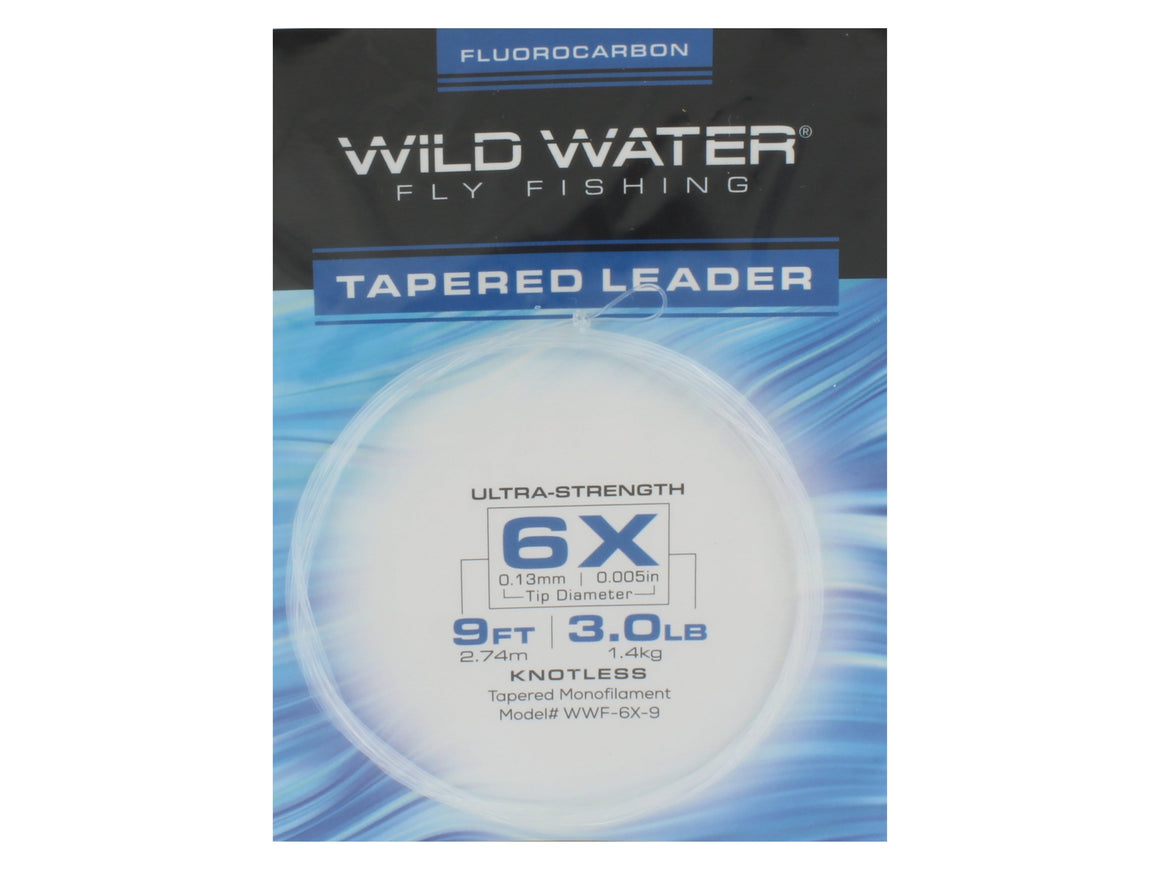 Fluorocarbon Tapered Leader 6X | Wild Water Fly Fishing
